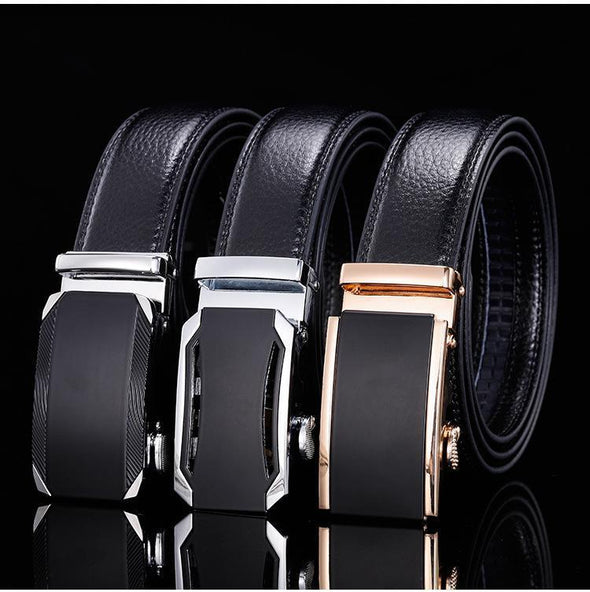 Hanrae Men's Genuine Leather Automatic Buckle Belt-7
