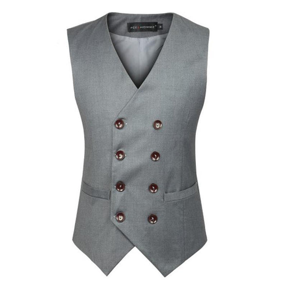 Hanrae Business Formal Double Breasted Suit Vest British Style