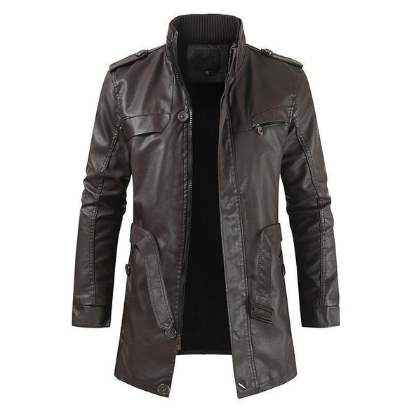 Hanrae Men's Classic Motorcycle Leather Jackets