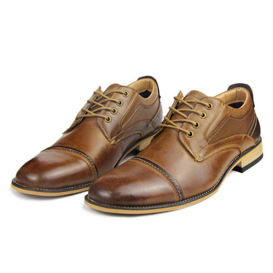 Hanrae Men's Classic Genuine Leather Dress Shoes