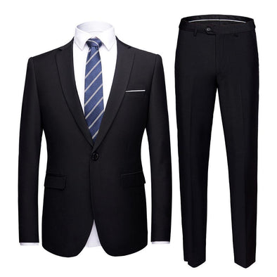 Hanrae Men Groom Suits 2 Piece Wedding Suit(Jacket+Pants)