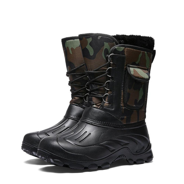 Hanrae Winter Camouflage Snow Men Boots Rain Shoes Waterproof