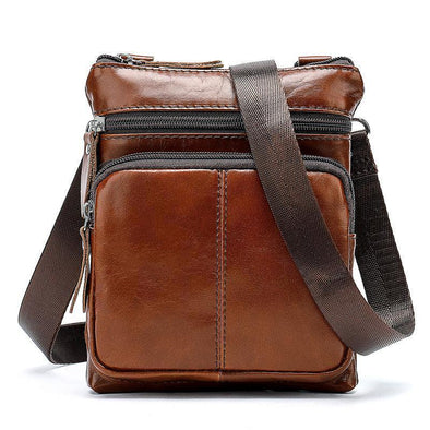 Hanrae  Bag Men Shoulder Genuine Leather Bags