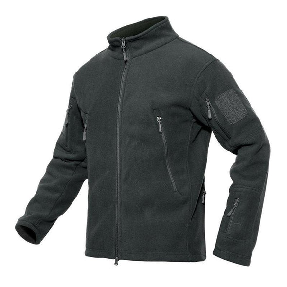 Hanrae Outdoors Multi-pocket Thermal Polar Fleece Soft Shell Tactical Jacket