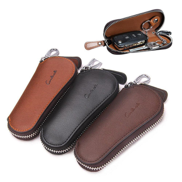Hanrae Men Genuine Leather Vintage Outdoor Casual Key Bag