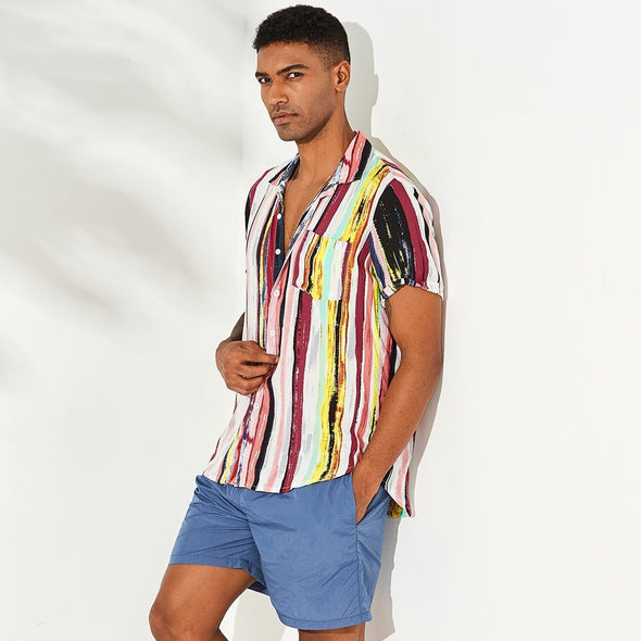 Hanrae Colorful Short Sleeve Shirt