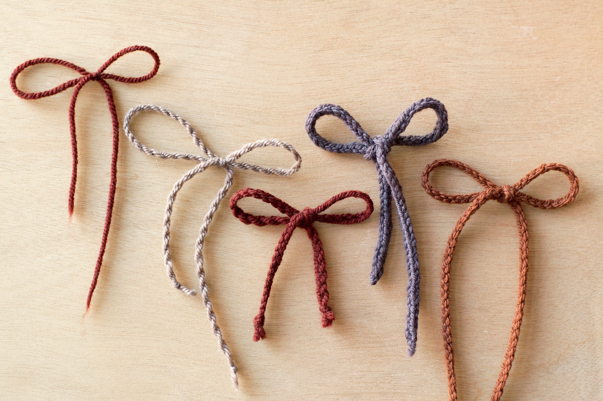 techniques: laces for booties - Quince and Co