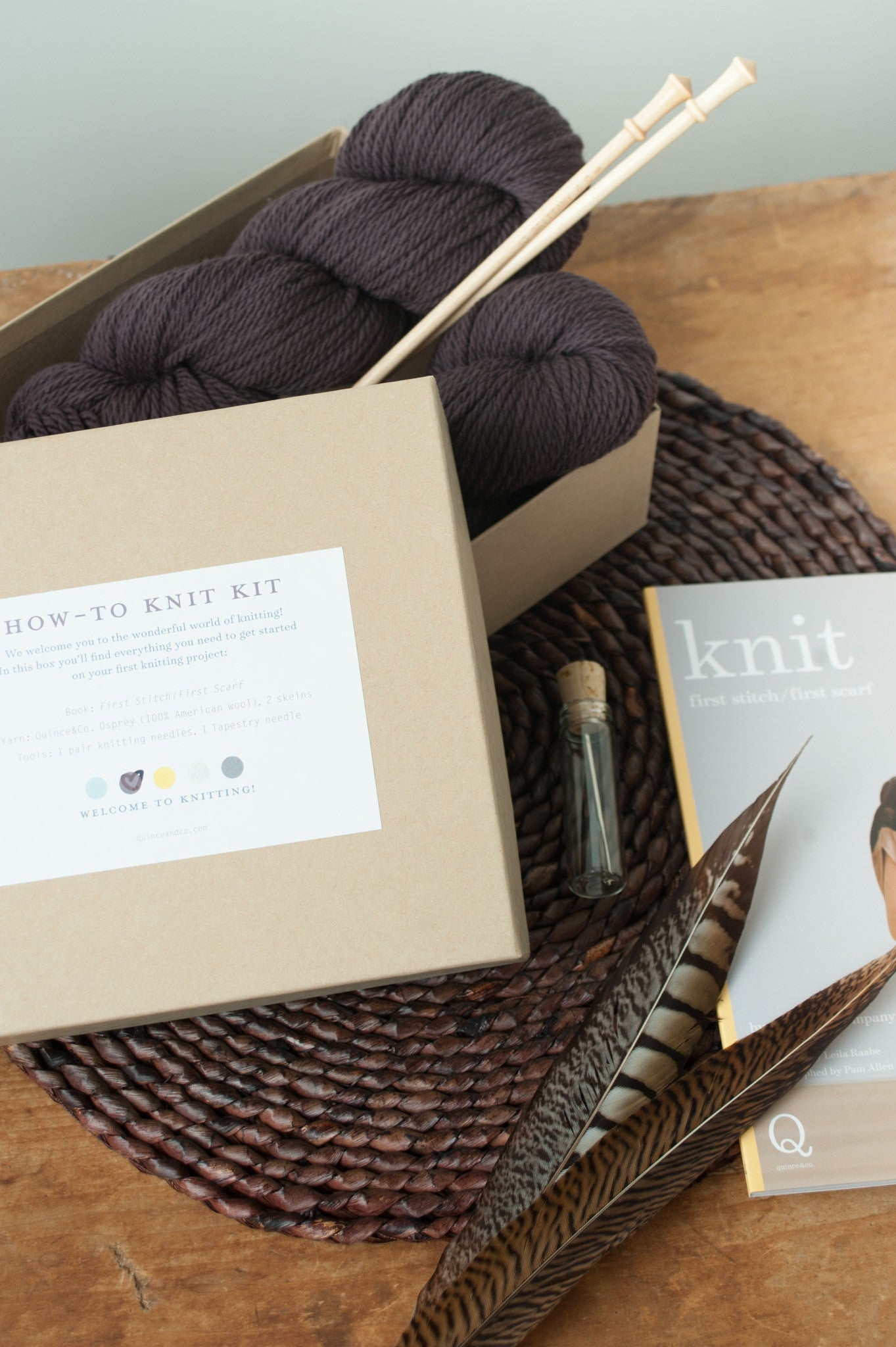 Knit First Stitchfirst Scarf Kit Quince And Co