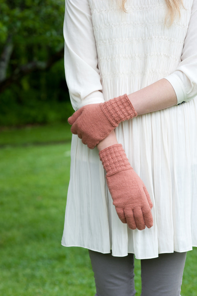 textured rib gloves