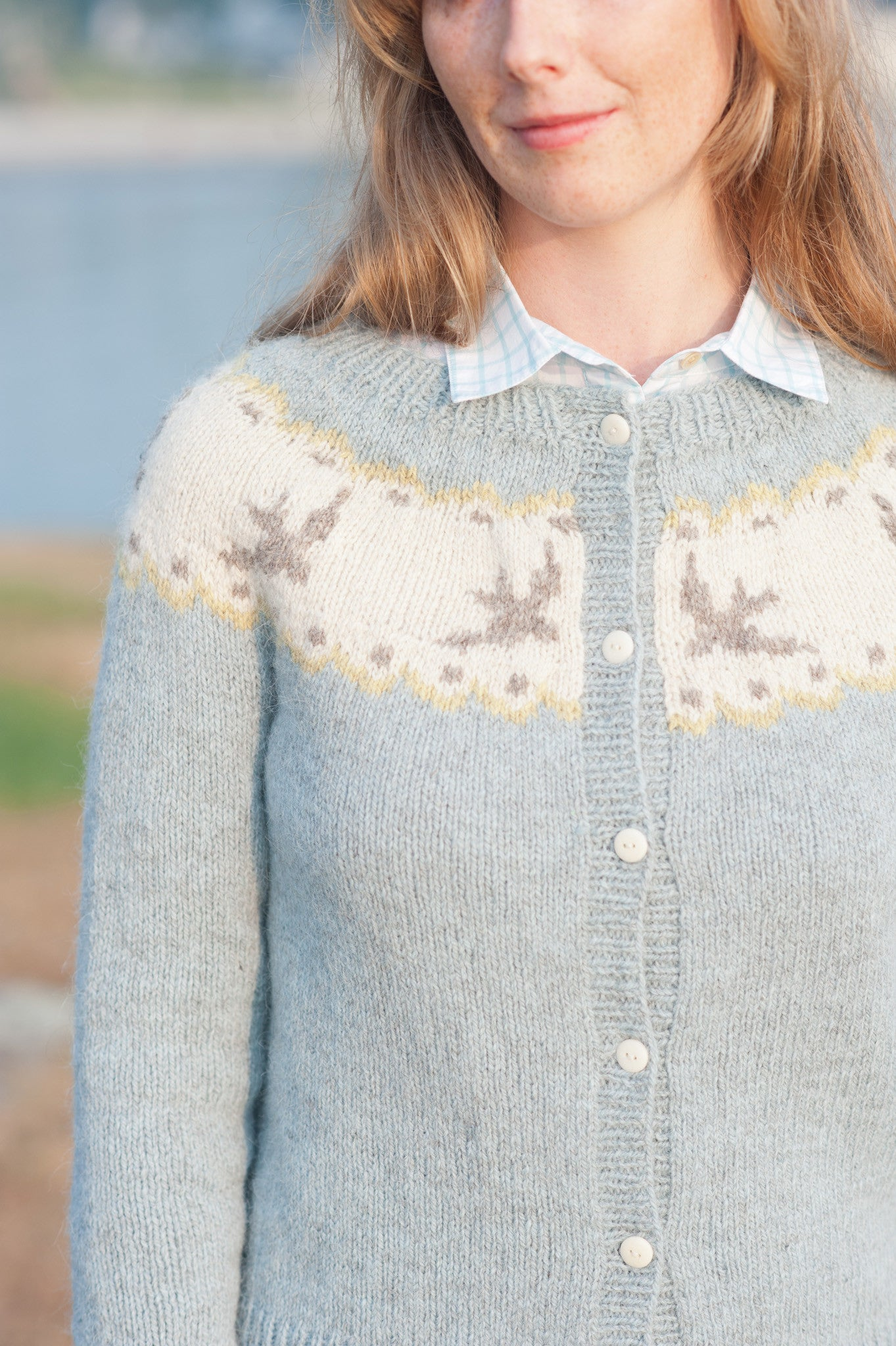 Birdie Fair Isle Cardigan Quince And Co