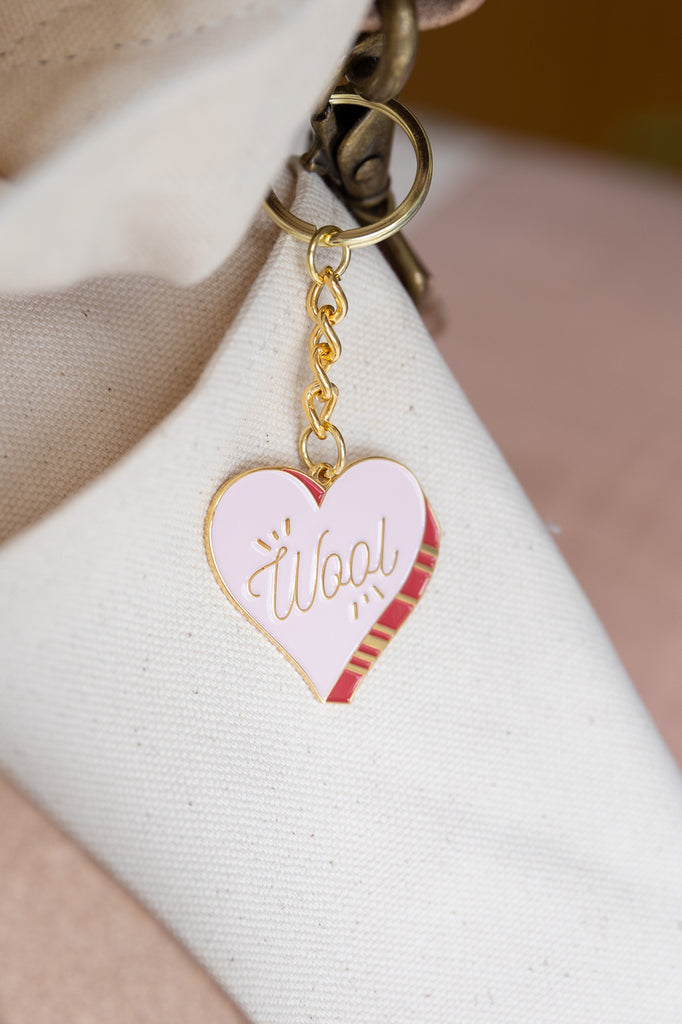 Wool Heart Key Chain