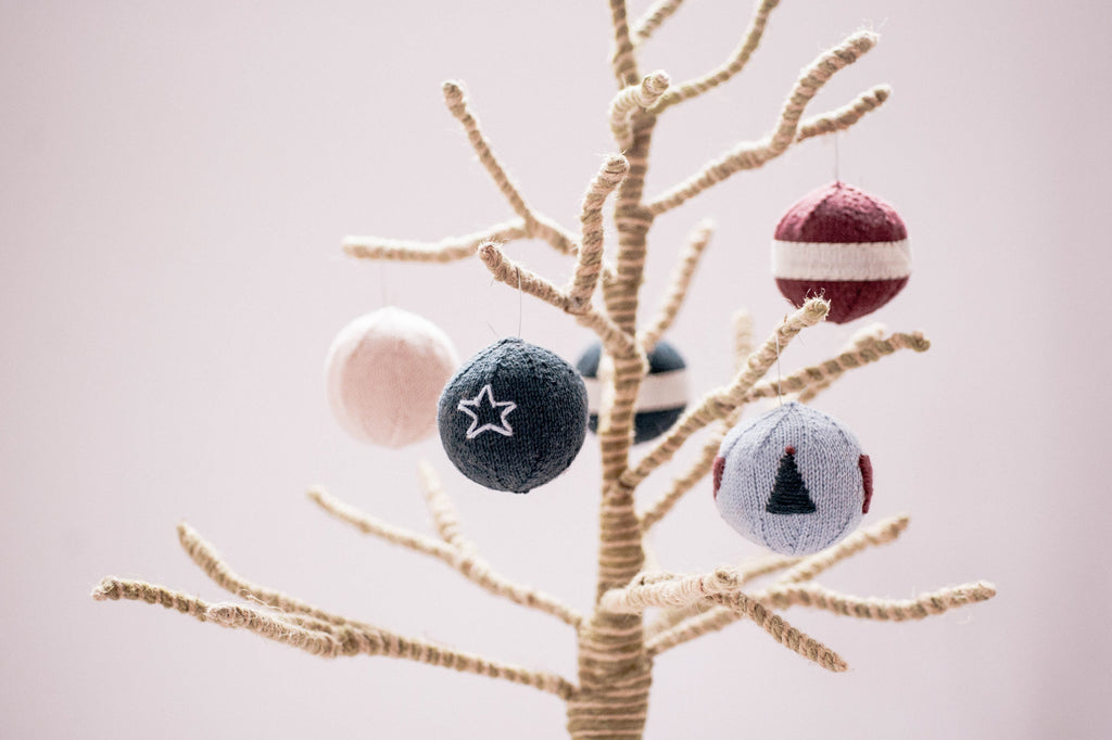 round ornaments and candy pieces