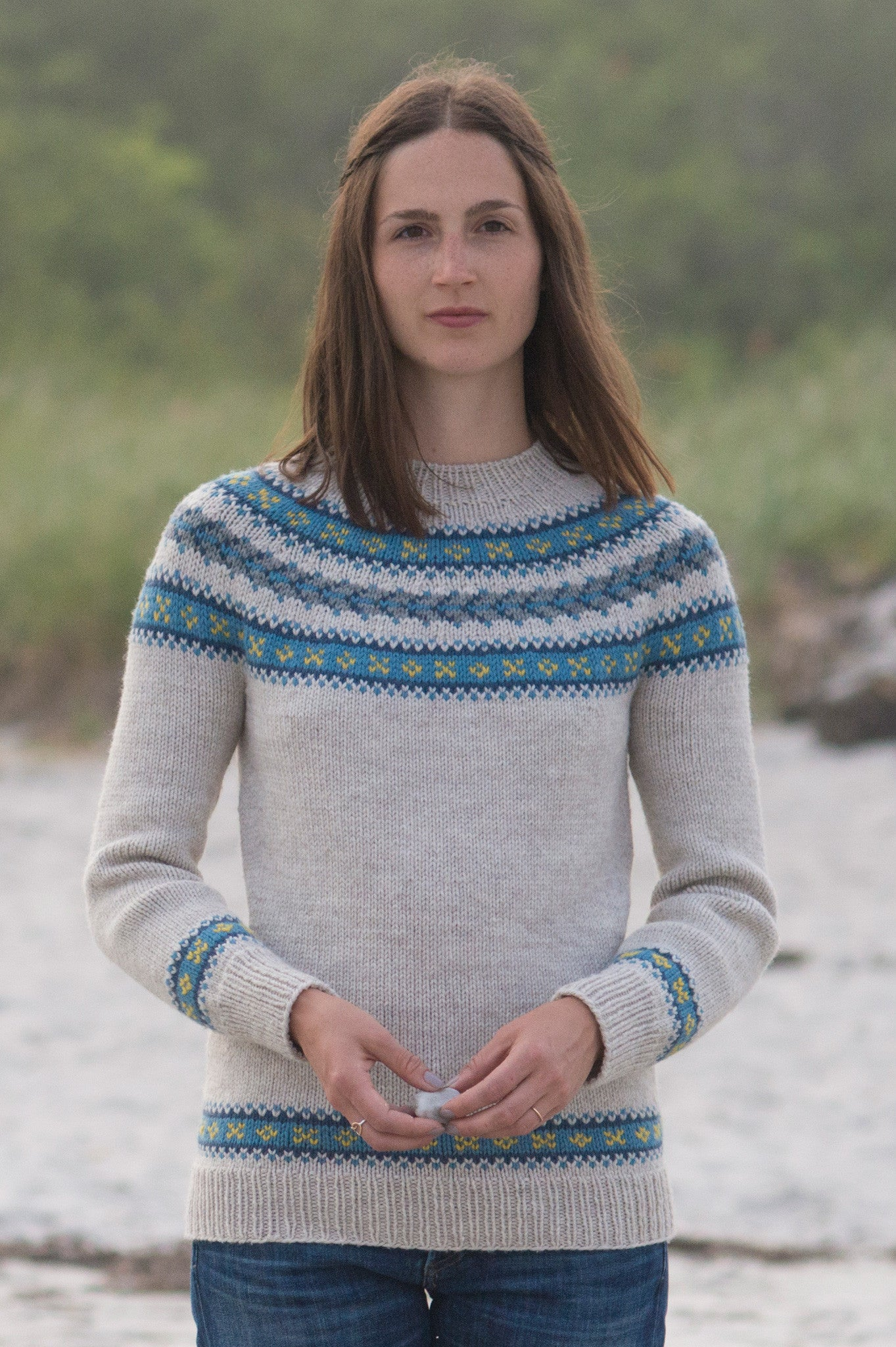 Dalis Sweater Knitting Pattern Quince And Co