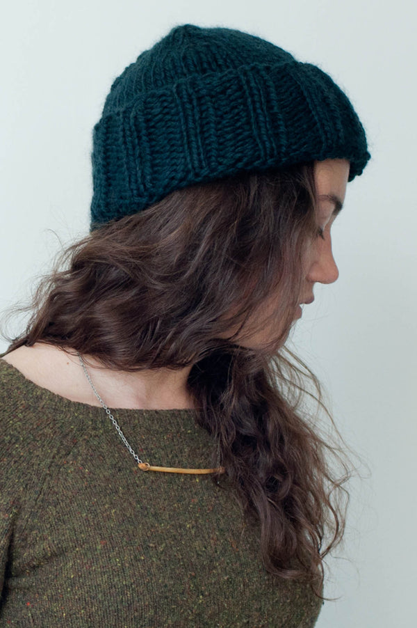 folded brim hat