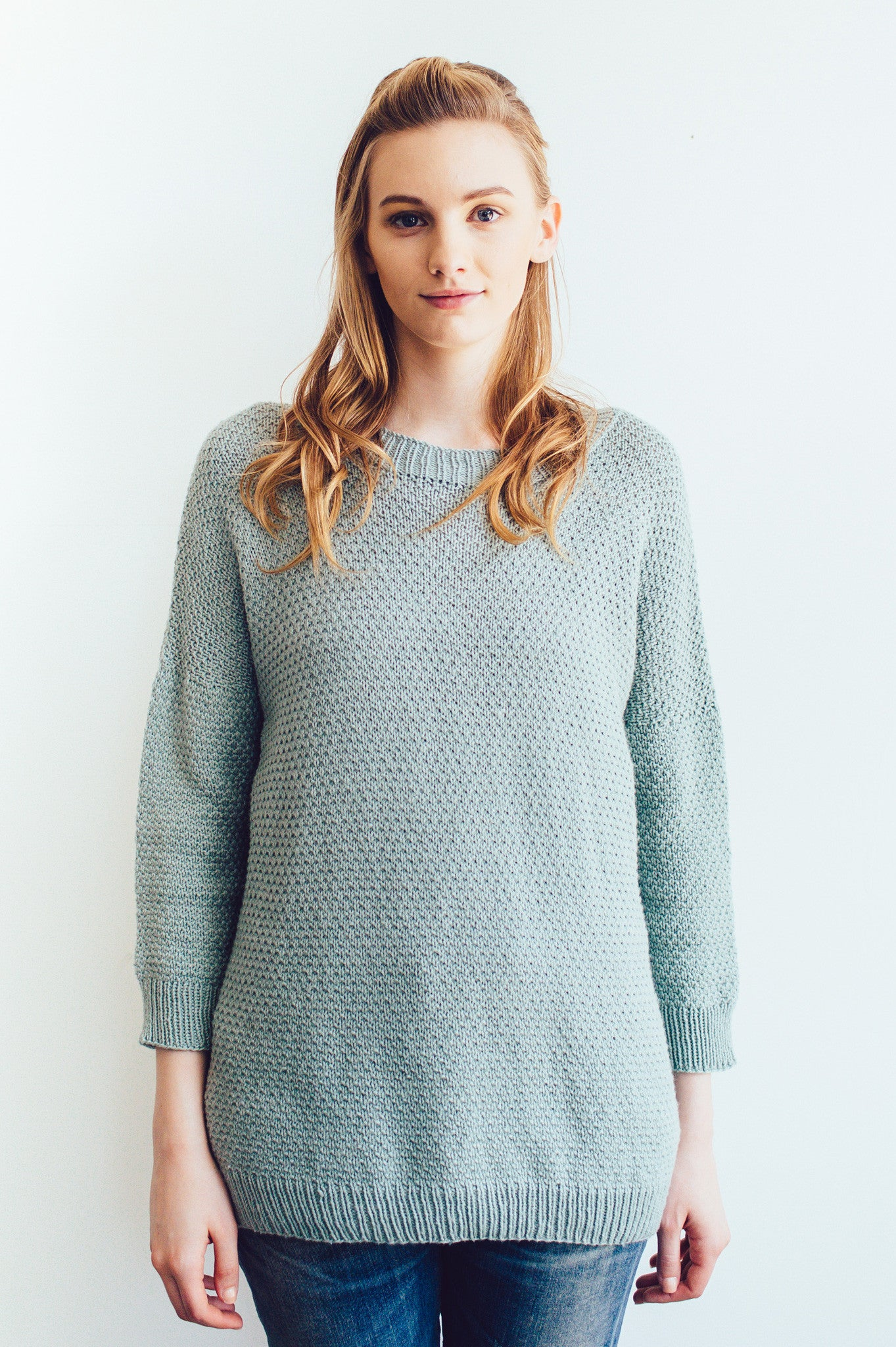 jennie drop shoulder knitting pattern - Quince and Co