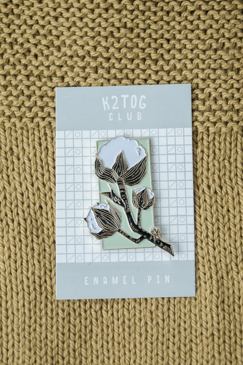 K2TOG Club cotton pin