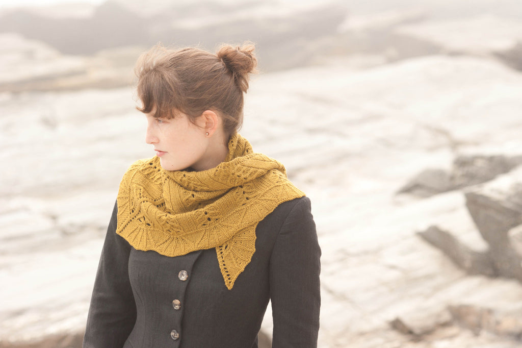 sweet honey shawl