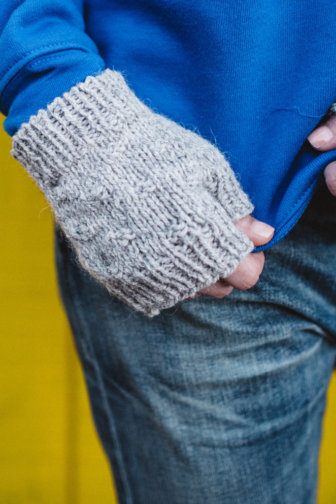 textured hat and mitts
