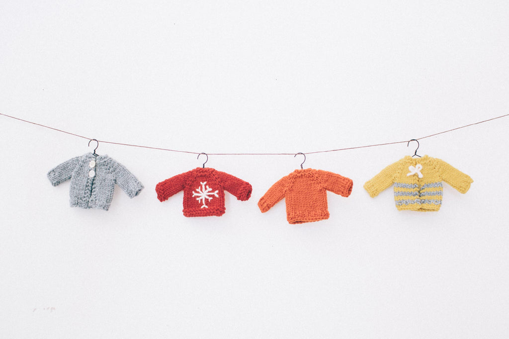 tiny sweater ornaments