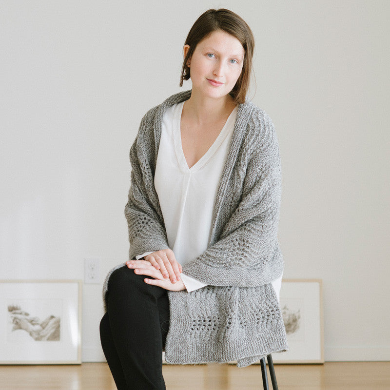 Waves In Lace Wrap Knitting Pattern Quince And Co