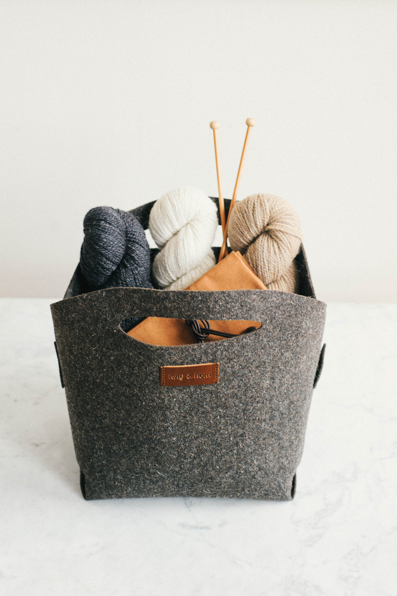 t&h origami yarn basket