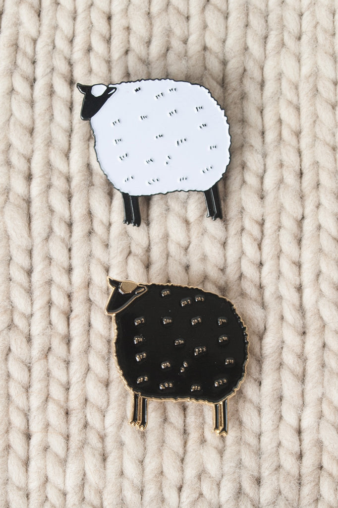 K2TOG Club sheep enamel pin