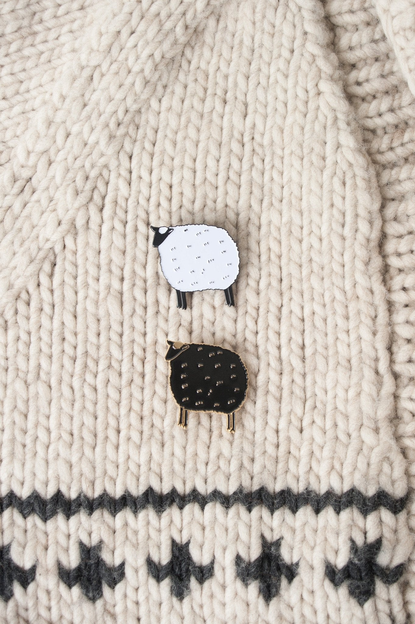 K2tog Club Sheep Enamel Pin Quince And Co