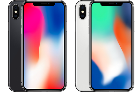 iPhone X available in 2 colours - silver and space grey