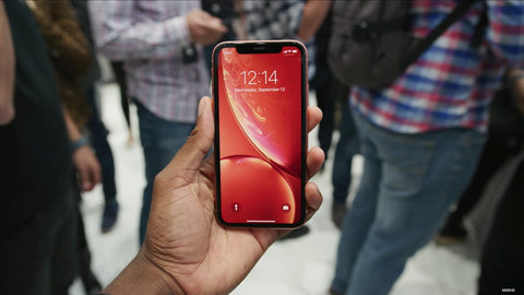 iPhone XR coral front
