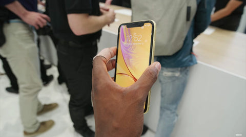 iPhone XR yellow front
