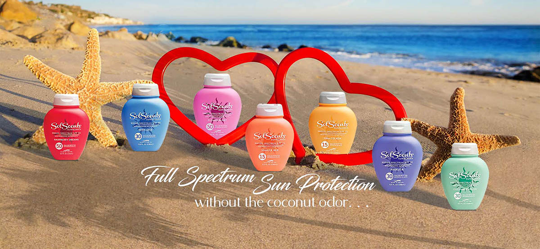 Sun Protection in 3 SPFs and 7 Scents