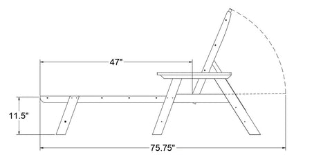 SoPoly Chaise Lounge Dimensions