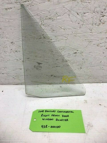 06-12 Bentley Continental Flying Spur RIGHT FRONT WINDOW GLASS OEM 3W5845116F