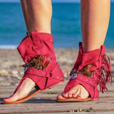 Sandals Women 2020 Clip Toe Women's Sexy Boots Ladies Casual Shoes For Woman Tassel Sandal Rome Gladiator Summer Female Sandales
