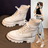 2020 New Casual Women's Shoes Real Soft Leather Nude Boots  WinterShort boots Women Fashion Shoes