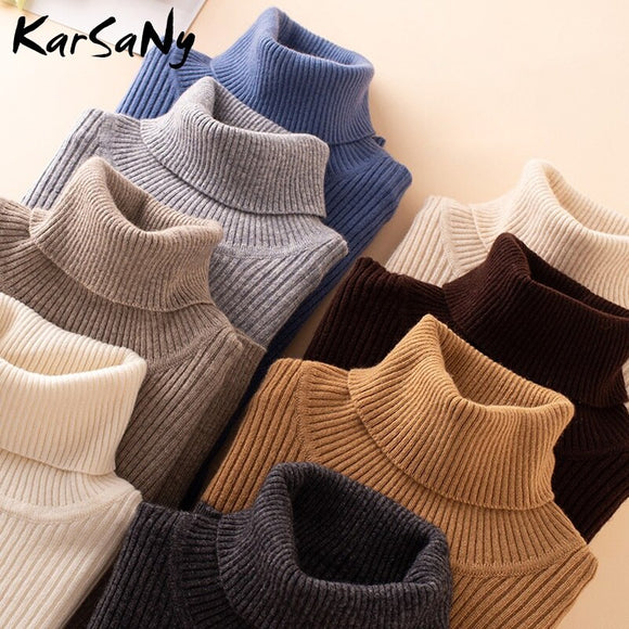 Women's Turtleneck Sweater Winter Warm Winter Clothes Women Knitted Pullover Women's Sweater Turtleneck Jumper Woman Sweaters