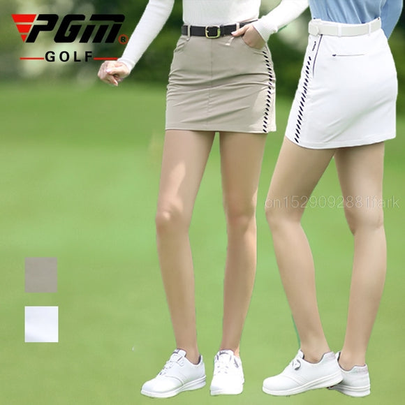Pgm Golf Wear Slim Women'S Skirt Spring Autumn Golf Skirt Ladies Badminton Tennis Short Skorts  Leisure Sports Pencil Dress