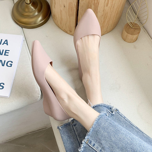 Spring and summer pointed toe women's single shoes outer wear flat sandals women's new style