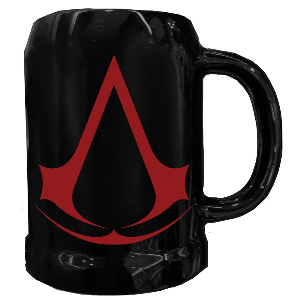 Black Assassin's Creed beer stein glass