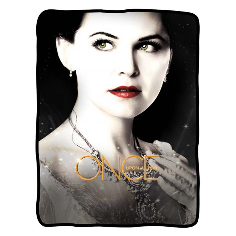Fleece blanket featuring snow white from once upon a time