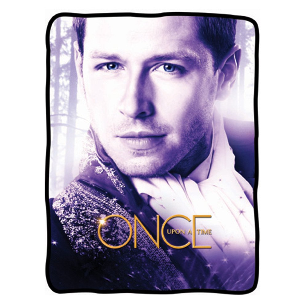 Fleece blanket featuring the prince from Once Upon A Time