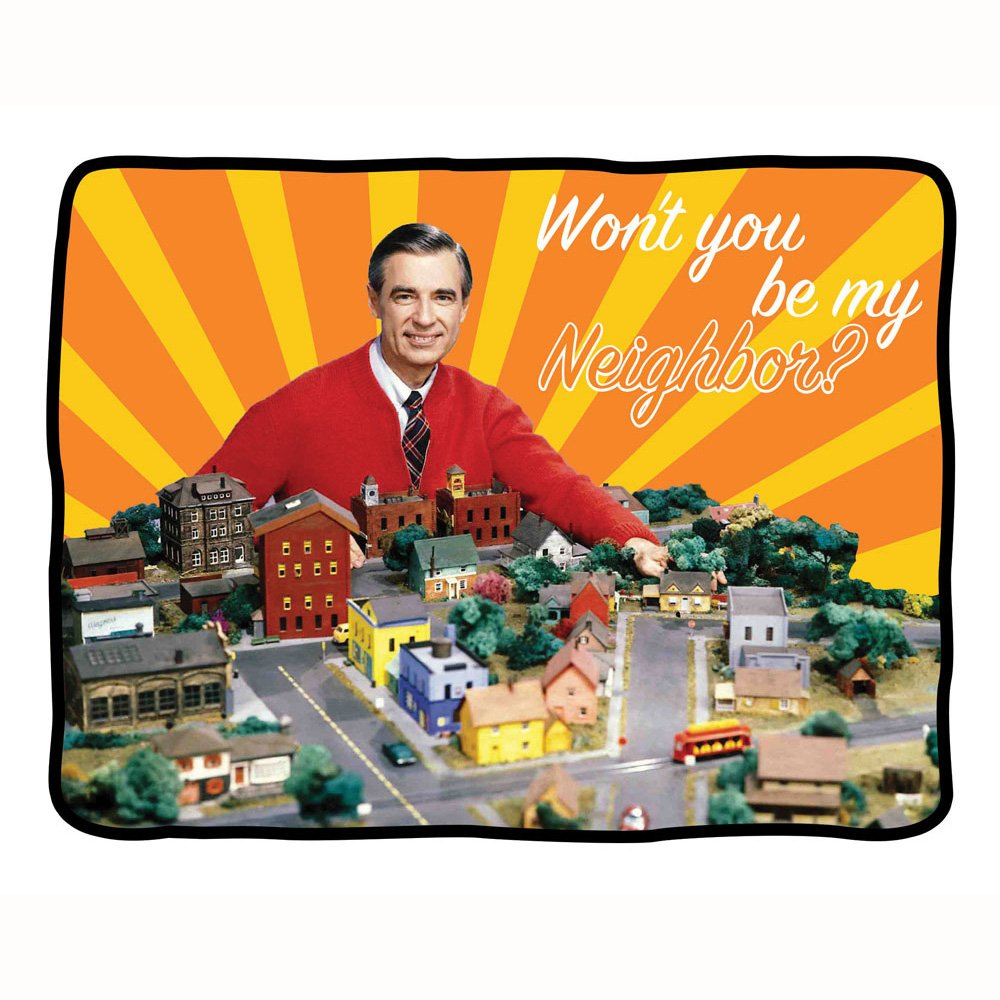 Mr Rogers Neighborhood fleece blanket