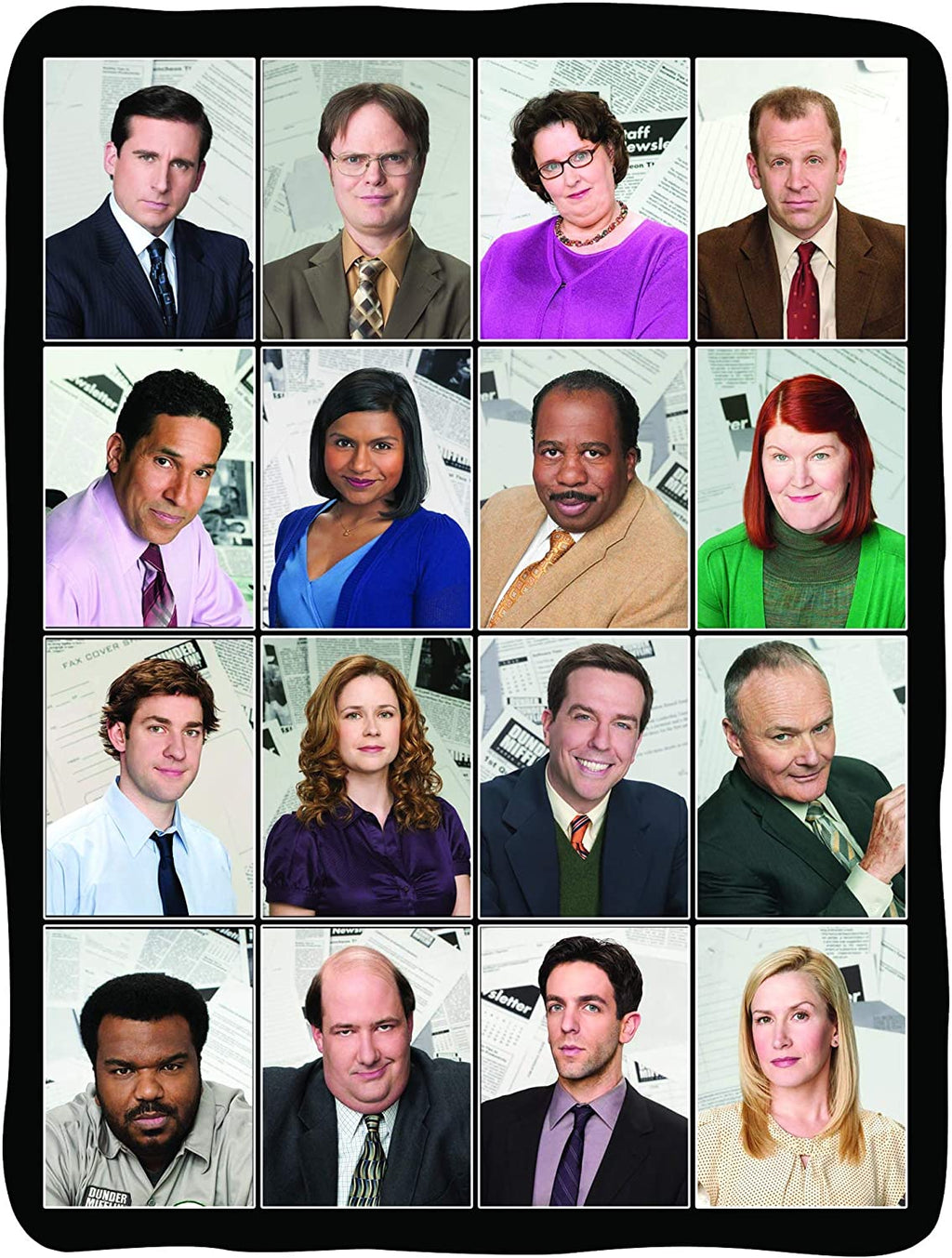 Fleece blanket featuring the cast of The Office