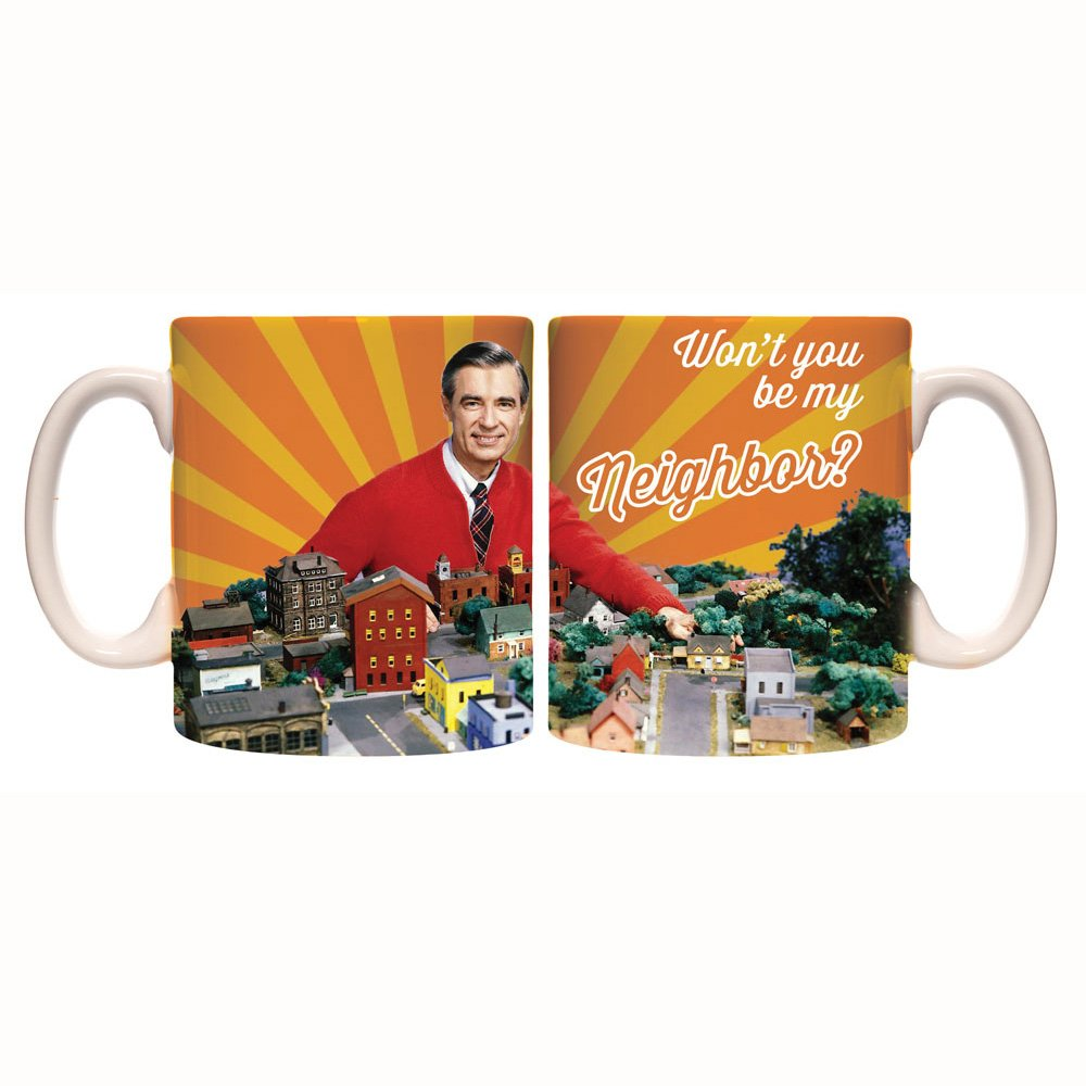 Mr Rogers neighborhood coffee mug front and back
