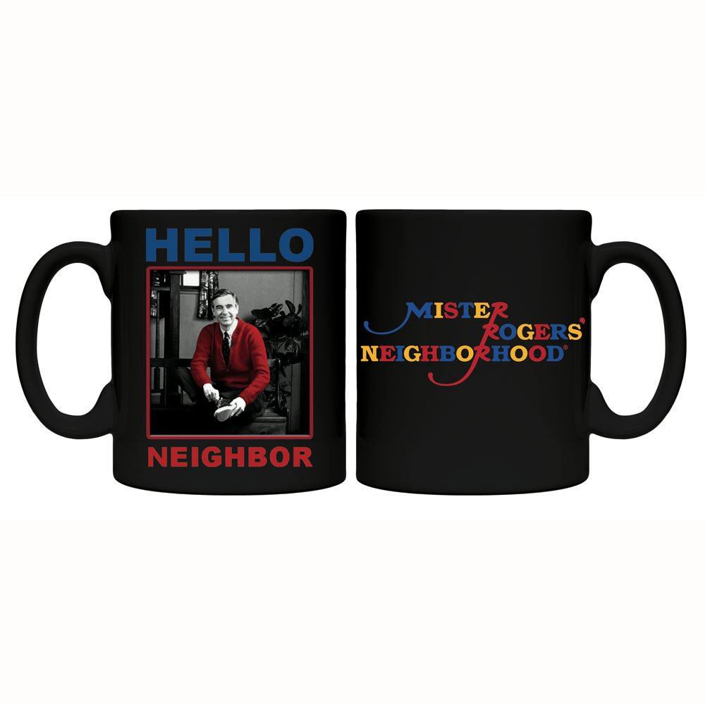 Mr Rogers coffee mug front and back