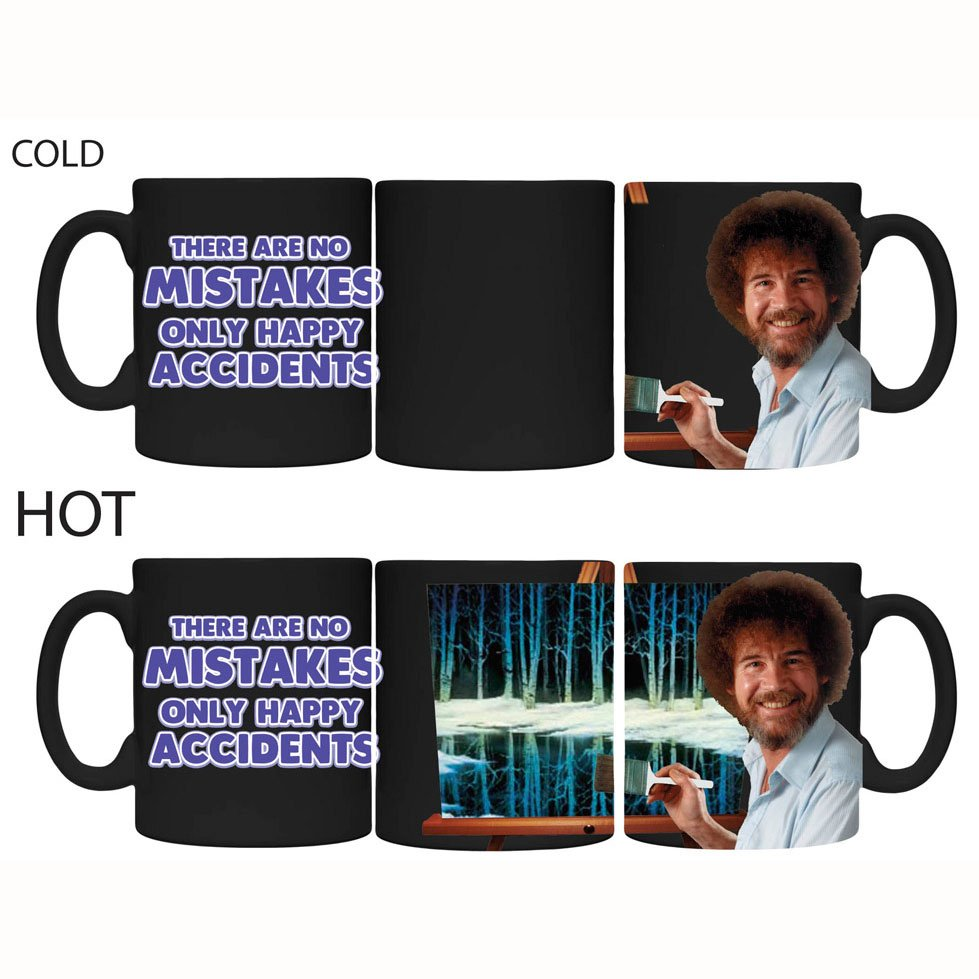 Bob Ross Happy Little Accidents heat changing coffee mug
