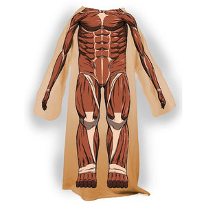 Snuggler blanket featuring Colossal's body from Attack on Titan