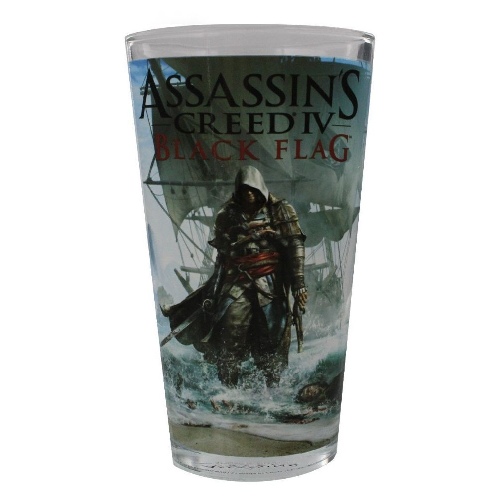 Assassin's Creed Black Flag pint glass