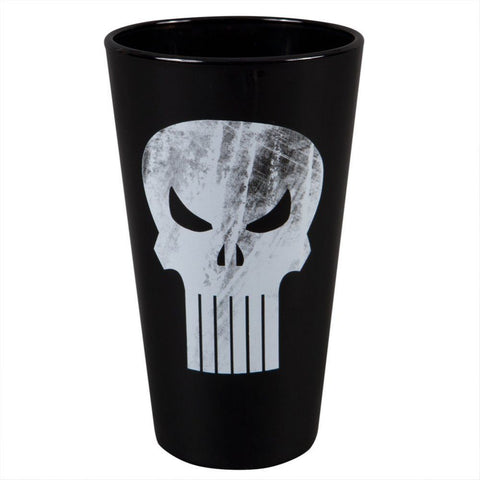 The Punisher dark pint glass