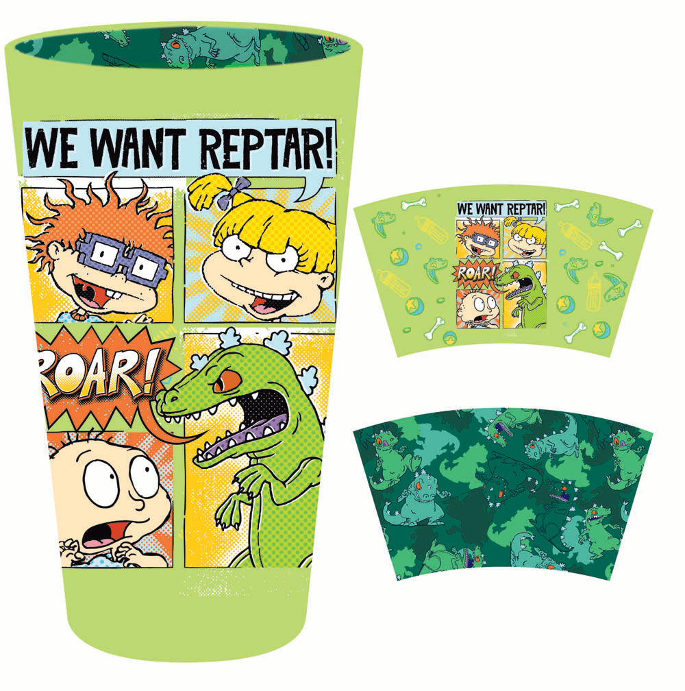 Rugrats pint glass with inside print